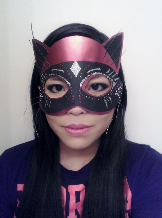 This one is a little older than a week, but oh well. I had to make a mask for theatre mask. This is what I cam up with in an hour.